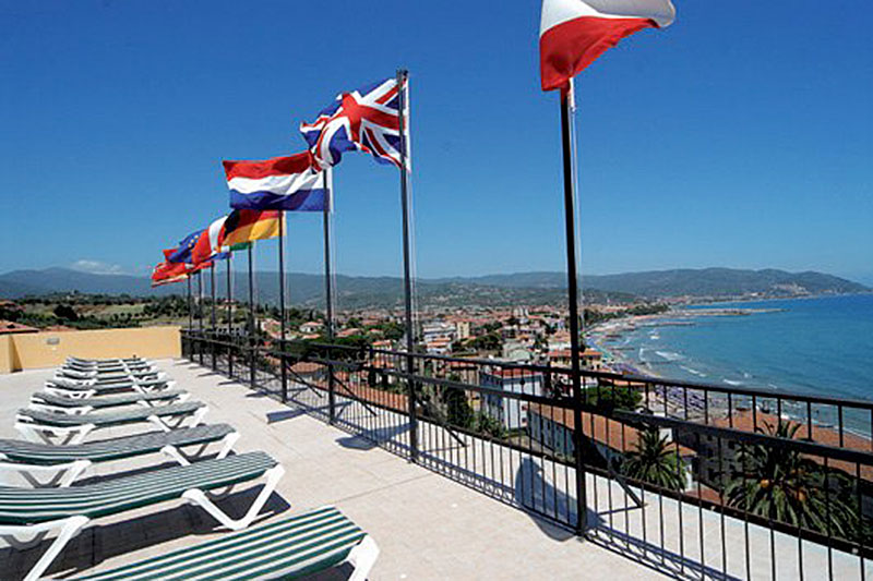 The hotel sun terrace