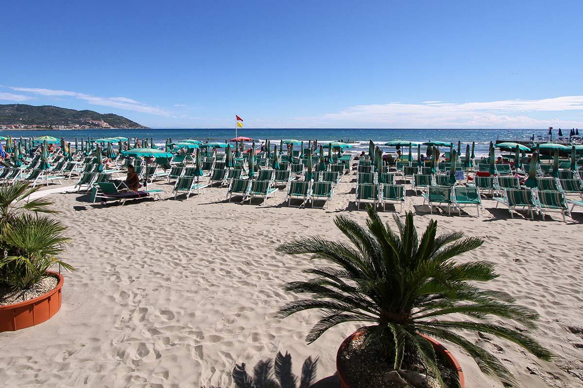 Villa Igea private beach