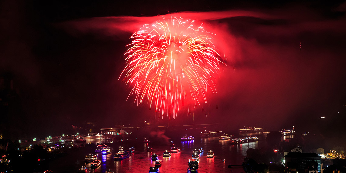 Rhine in Flames fireworks